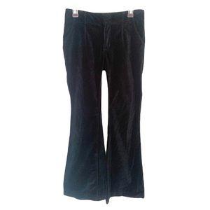 Free People Deep Teal Velvet Size 27 Flare Pants